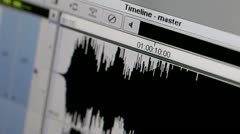Starting of the music track. Stock Footage
