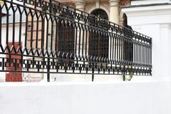 Fence of church Stock Photos