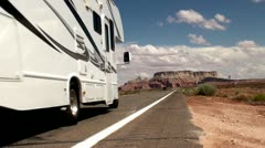 Scenic road in Arizona, USA Stock Footage