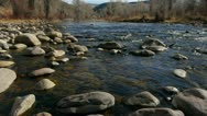 Stock Video Footage of Mountain River in Winter