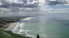 Muizenburg beach False Bay Stock Footage