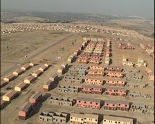 Aerial helicopter shot of housing development project in South Africa Stock Footage