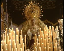 Devotion in spanish holy week 4 Stock Footage