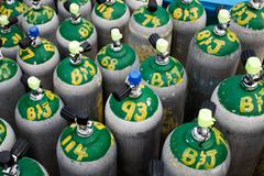 Scuba diving oxygen tanks Kuvituskuvat