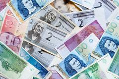 Estonian money Stock Photos