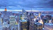 Ultra HD 4K New York City Skyline Aerial View City Midtown Manhattan, time lapse Stock Footage