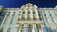 Stock Video Footage of ZOOM of Front of Catherine Palace in Pushkin city, St. Petersburg, Russia