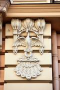 Detail of art nouveau or jugenstil building Stock Photos