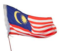 malaysia flag - stock photo