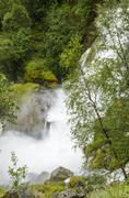 Norway - Jostedalsbreen National Park - Waterfall - stock photo