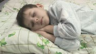 Boy sleeps in the nursery. Stock Footage