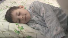 Boy sleeps in the nursery. Stock Footage