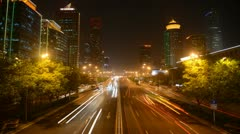 Ultra HD 4K Beijing CBD, China, Yintai Center World Trade Center time lapse city Stock Footage