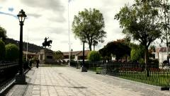 Monument honouring General Sucre Stock Footage