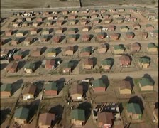 Aerial helicopter shots of housing project in South Africa. Stock Footage