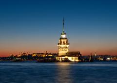 Neidot Tower Istanbulissa Turkissa Kuvituskuvat