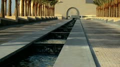 Avenue Entrance Museum Islamic Art Doha, Qatar Stock Footage