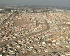 Aerial helicopter shots of housing project in Johannesburg Stock Footage