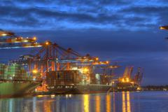 Container Terminal - stock photo
