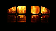 Log Burner Stock Footage