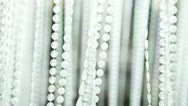 Glowing transparent beads Stock Footage