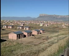 Rural housing development project in South Africa. Stock Footage