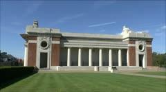 Menin Gate, Ieper, Belgium Stock Footage