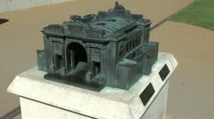Model of the Menin Gate, Ieper, Belgium Stock Footage