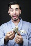 get rich from home - stock photo