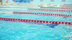 Training, swimming pool Stock Footage