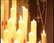 Detail of virgin image in spanish holy week Stock Footage