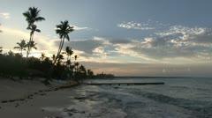 Dominican republic - dawn Stock Footage