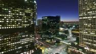 Stock Video Footage of Downtown Los Angeles Sunset | Time Lapse | Day to Night | HD |