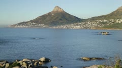 Lion's Head with Clifton and Camps Bay Stock Footage