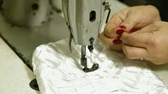 Working Sewing Machine Stock Footage