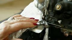 Overlock sewing machine Stock Footage