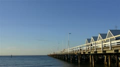 Busselton jetty in spring Stock Footage