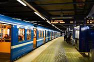 Stockholm metro station Stock Photos