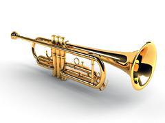 Trumpet Stock Illustration