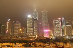 Hong Kong Downtown Stock Footage