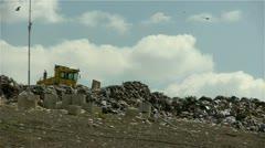 Garbage dump tracktor 0213 2 Stock Footage
