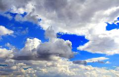 image with sea and cloudiness sky - stock photo