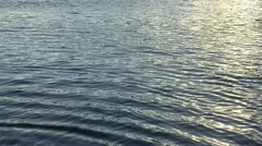 Calm water, reflections in the sea Stock Footage