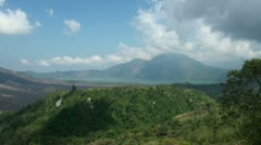 Volcano with lake in Bali Stock Footage