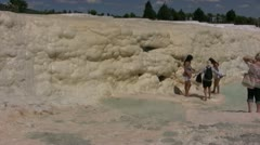 Limestone deposits at Pamukkale Stock Footage