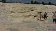 Stock Video Footage of Limestone deposits at Pamukkale