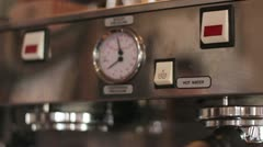 Making Coffee in Coffeeshop Stock Footage