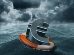 Euro rescue Stock Illustration