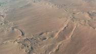 Flight over desert dunes in namibia, africa Stock Footage