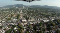 Aerial Shot: Round Trip, Burbank to Malibu, Part 2 Stock Footage